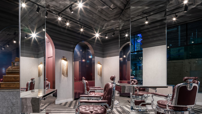 Opulent Barbershop Environment